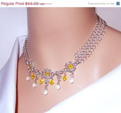 ON SALE 25 OFF Chainmaille necklace byzantine by NezDesigns, $41.25