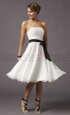 Buy Best On Sale Simple Princess Strapless Short Ruched Cheap Bridesmaid Dresses Under 100 With Sash Under 100 Bridesmaid Dresses under $95.99 only in DressesTime.