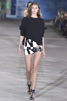 Anthony Vaccarello RTW Spring 2015- The inspiration from the designers experience designing Versus. Sexy was the theme with high slits and short skirts featured prominently in the collection. thestyleweaver.com