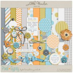 Quality DigiScrap Freebies: Little Wonder mini kit freebie from Pixel Gypsy