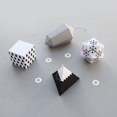 Geometric decorations ornaments diy
