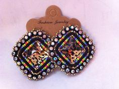 Native American Beaded Earrings, Post. on Etsy, $20.00