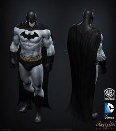 "ArtStation - Batman: Arkham Knight DLC, Iconic Grey & Black Batman skin Game Model BIGSHOT, Jocelyn ""jocz"" Zeller"
