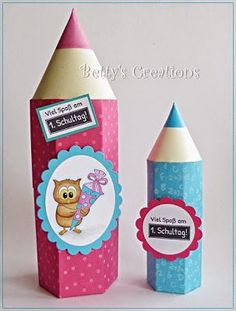 Anleitung Stiftbox (Bettys-creations) – Back to School Cube Origami, Origami Diy, Paper Roll Crafts, Diy And Crafts, Paper Box Template, Pencil Organizer, Material Didático, Envelope Punch Board, Beginning Of School