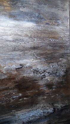 Ebb And Flow This is an original Amy Neal abstract painting on 24 x 30 gallery-wrapped canvas. Deep, rich shades of brown, gray, amd white with a subtle distressed texture. Reminiscent of the patterns of sun on water. Sides painted black. Ready to hang or frame any direction.