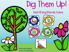 A fun center game (or word work game during guided reading) that helps students build fluency with hearing and identifying blends