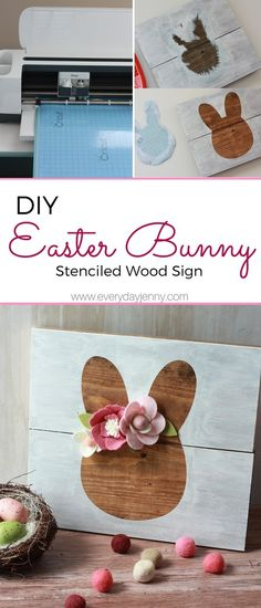 do it your self diy do it your self crafts The best way to make this cute Easter signal with felt flowers together with your Cricut!, diy initiatives actions concepts crafts for residence room decor it your self diy playing cards pre. Vinyle Cricut, Cricut Stencil Vinyl, Stencil Wood, Sign Stencils, Vinyl Wood, Make A Stencil, Wood Wood, Spring Projects, Easter Projects