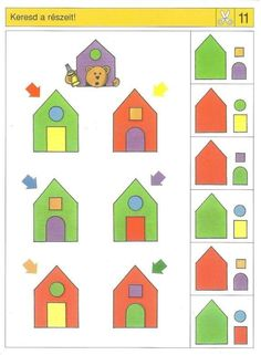 Piccolo: schaar kaart 11 Learning Activities, Preschool Activities, Kids Learning, Visual Perception Activities, Sequencing Cards, Busy Book, Worksheets For Kids, Creative Thinking, Worksheets