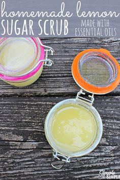 This homemade lemon sugar scrub is perfect for dry winter hands.