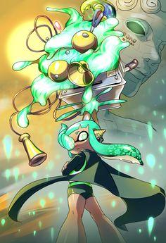 Splatoon Squid, Splatoon Memes, Nintendo Splatoon, Splatoon 2 Art, Splatoon Comics, Squid Games, Anime Manga, Anime Art, Super Smash Bros