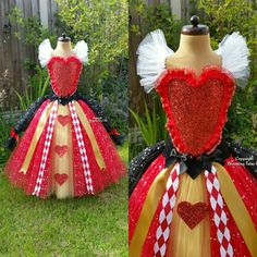 Queen of Hearts Inspired Super Sparkly Tutu by BloomingTutusUK