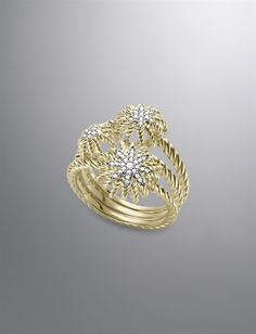 Starburst Ring, Pave Diamonds
