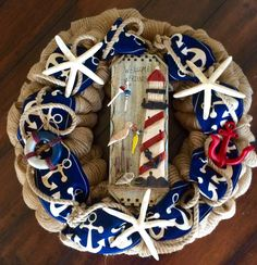 A personal favorite from my Etsy shop https://www.etsy.com/listing/268343429/nautical-wreath-sailing-wreath-beach