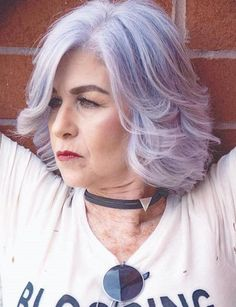 50 Modern Haircuts for Women over 50 with Extra Zing Lavender Bob For Women Over 50 Haircut For Older Women, Bob Haircuts For Women, Modern Haircuts, Modern Hairstyles, Cool Haircuts, Short Hairstyles For Women, Hair Cuts For Over 50, Hair Styles For Women Over 50, Short Hair Styles