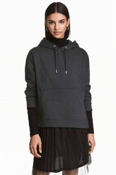Bluza z kapturem - Czarny - ONA | H&M PL 1