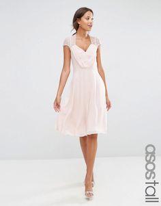 ASOS Tall   ASOS TALL Kate Lace Midi Dress at ASOS