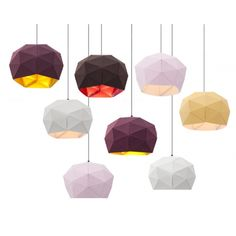 Dot/Dash translucent pendant light from Erich Ginder. Made from die cut fabric, nylon rivets and grey lamp cord. Design Light, Lamp Design, Interior Lighting, Lighting Design, Lamp Light, Light Up, Soft Light, Lite Brite, I Love Lamp