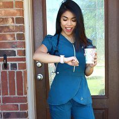 Modern Scrubs and Lab Coats for Men and Women by Jaanuu Scrubs Outfit, Scrubs Uniform, Stylish Scrubs, Beautiful Nurse, Cute Scrubs, Medical Uniforms, Medical Scrubs, Fashion Mode, Womens Fashion For Work