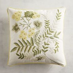 Our fresh pillow brings in a bevy of ferns and flowers to brighten up chairs, sofas and, really, anywhere.