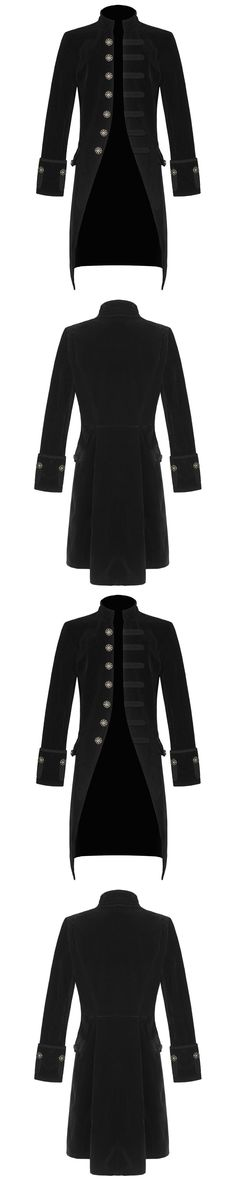Outerwear Coats and Jackets 175771: Men Steampunk Tailcoat Jacket Black Velvet Gothic Victorian Hand Made -> BUY IT NOW ONLY: $79.99 on eBay!
