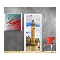 Stickers porte déco Big Ben ref 874 Big Ben, Tube Carton, Les Stickers, Decoration, Painting, Wall Decals, Puertas, Decor, Painting Art