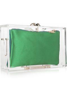 CHARLOTTE OLYMPIA Pandora Perspex box clutch