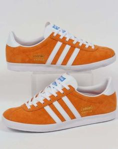 b42cb528473e Adidas Casual Shoes, Shoes Sneakers, Adidas Sneakers, Adidas Gazelle,  Orange Fashion, Adidas Originals, Men's Style, 1980s, Sick
