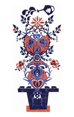polish art,Polish Folk, Polish design, polski dizajn, polskie wzornictwo, made in Poland. Pinned by #AdrianWerner