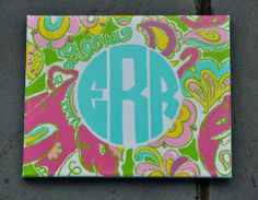 """Lilly Inspired Monogram Canvases (8x10"""") on Etsy, $18.00 (Chin Chin)"""