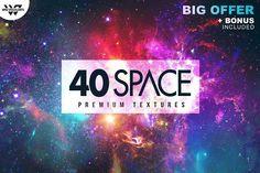 40 SPACE GALAXY Textures + BONUS by tes on @creativemarket