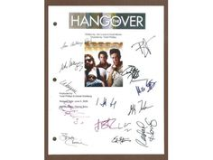 The Hangover Movie Script Signed Screenplay Autographed: Bradley Cooper, Ed Helms, Zach Galifiankakis, Justin Bartha, Mike Epps, Ken Jeong
