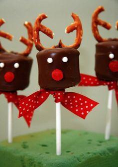 Risultati immagini per christmas chocolate covered marshmallows