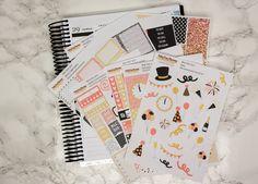 Neujahrs oderGeburtstags planner sticker kit / Erin Condren sticker kit / Happy Planner by PrettyEasyPlanning on Etsy
