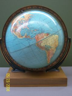 12 Peerless Legend, Swivel Mount Atlas Base, Globe Maker: Weber Costello Co.; Cartographer: Weber Costello Co. (Published: Weber Costello Co.   1951 ca. Chicago Heights, Illinois)