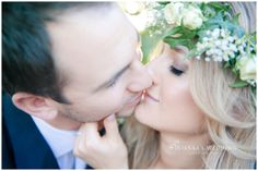 vintage inspired couple bride groom kissing | Rianka's Wedding Photography