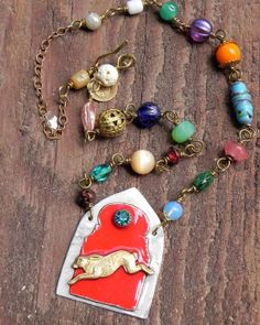 Moroccan Rabbit Run Assemblage Necklace by AllEyeC on Etsy, $65.00