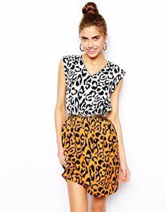 Mix n Matchin Patterns - Lovin' It! -- River Island Animal Print Tabbard Dress