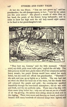 Stories & fairy tales / by Hans Christian Andersen ... v.1. | HathiTrust  Pinterest Board: Vintage Mermaid Illustrations