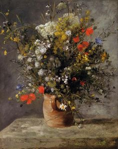The Athenaeum - Flowers in a Vase (Pierre Auguste Renoir - circa 1866)