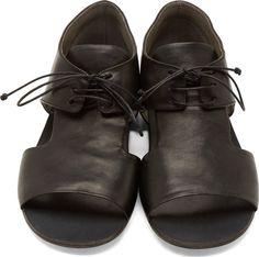 Marsèll Black Derby-Style Sandals