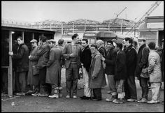 Cartier-Bresson when he came to Liverpool in 1962 as part of a team filming a TV documentary about northerners.  Dockers pay day