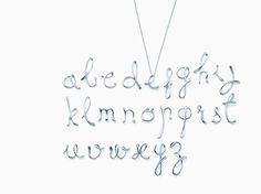 Elsa Peretti® letter pendant. Sterling silver, small. Letters A-Z available. | Tiffany & Co.