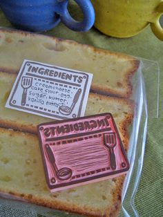 Hand Carved Ingredients Label Stamp by StampsbySachi on Etsy, $30.00