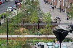 Dernière innovation en date à Copenhague, un parc «résilient» capable de s'adapter aux aléas météorologiques en résistant aux fortes pluies.