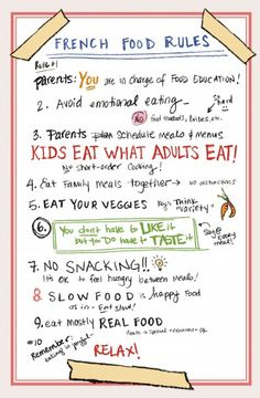 A CUP OF JO: Motherhood Mondays: French Kids Eat Everything   What do you think about these rules? Would they work for your family?