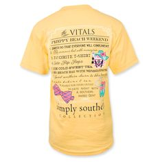 #SimplySouthern Vitals #Beach Weekend T-Shirt - Squash