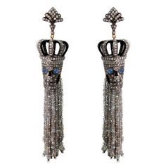 14k Gold Diamond Pave Labradorite 925 Silver Skull Earringshalloween Jewelry…
