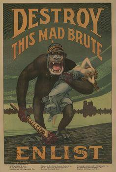 Los mejores carteles de propaganda de la Primera Guerra Mundial | OLDSKULL.NET