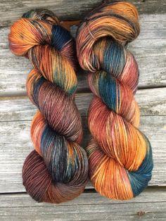 Hand Dyed Sock Yarn Hand Dyed Yarn Fingering by WendysWonders127