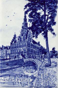 Delfts blauw, Franeker Stadhuis, Plateelbakkerij Delft in Hilversum, ca. 1960-1967
